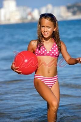 Dievčenské plavky dvojdielne Lorin DP2 s bodkovanou podprsenkou a ...