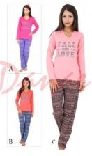62e6d2c9b504 Dámske dlhé pyžamo s patentom - Taro - Koko - Danaeshop