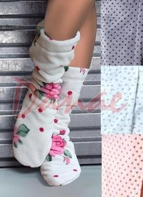 05c67d9c4865 Huňaté ponožky k županom L L - so vzorom ako župany - Danaeshop