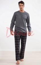 668180c089d8 Pánske pyžamo kárované dlhé nohavice - Key 298 - Danaeshop