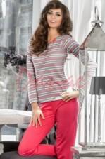705f53e1784b Kárované dámske pyžamo na rozopínanie - Dalia - Danaeshop