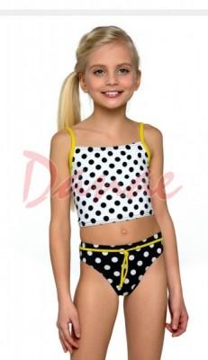 d2ce43a33 Lambadove plavky pre dievčatá Lorin Mo54 - bodky - Danaeshop