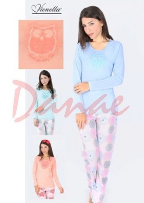 9d989b07f4ad Sova s trblietkami - dámske pyžamo dlhé - Danaeshop