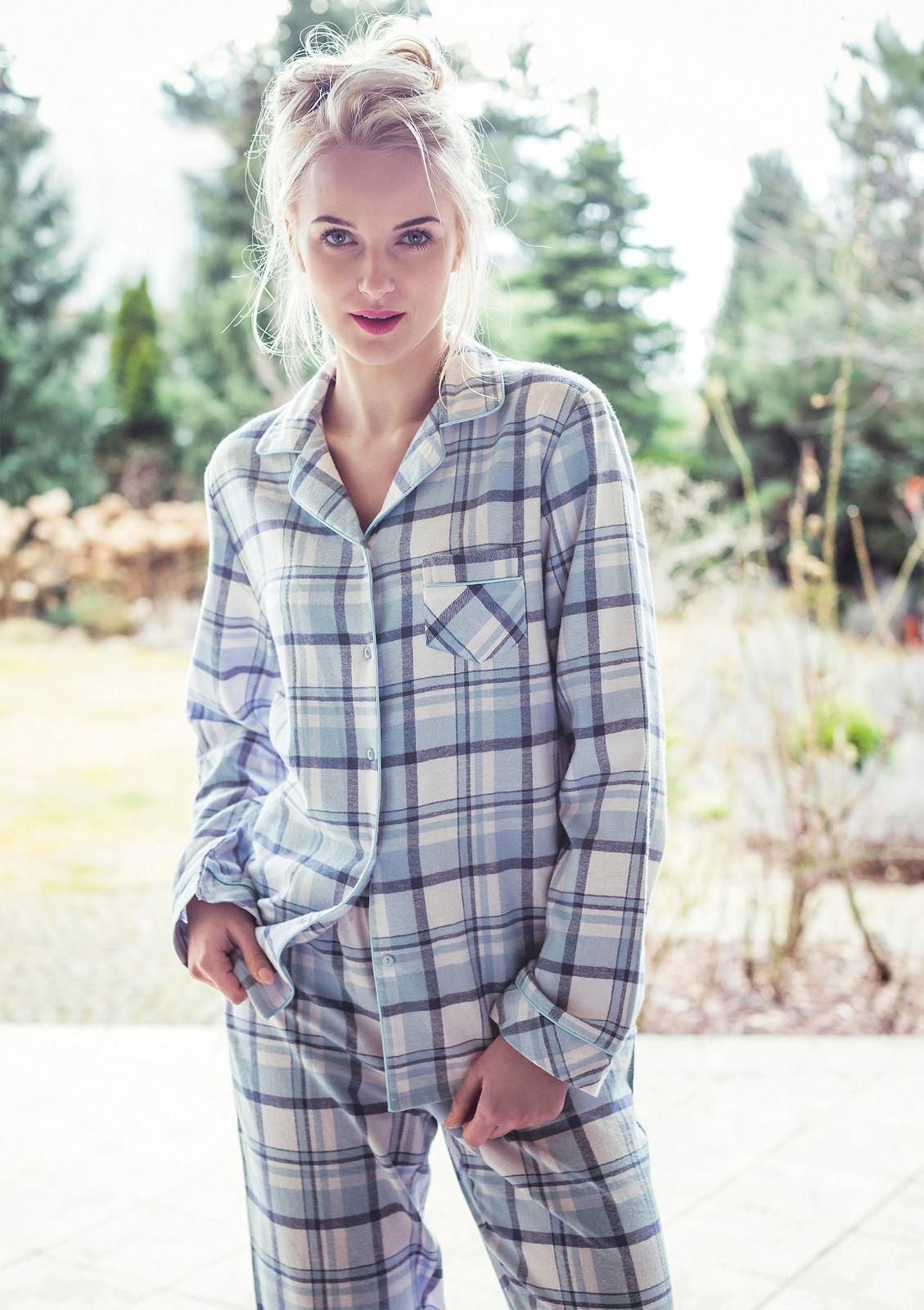 Flanelové dámske pyžamo dlhé - Key