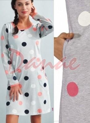 157e33a3e Domáce šaty Luna - s farebnými bodkami - dámska nočná košeľa - Danaeshop