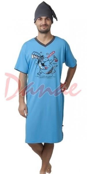9dd498c95c0c Na zdravie - pánska nočná košeľa s čiapkou na spanie - Danaeshop
