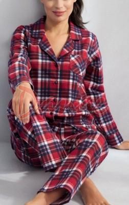 61579119d34c Flanelové pyžamo dámske kárované - Luna - Danaeshop