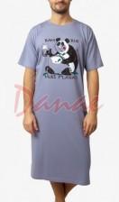 168c764f5c52 Panda - pánska nočná košeľa humorná