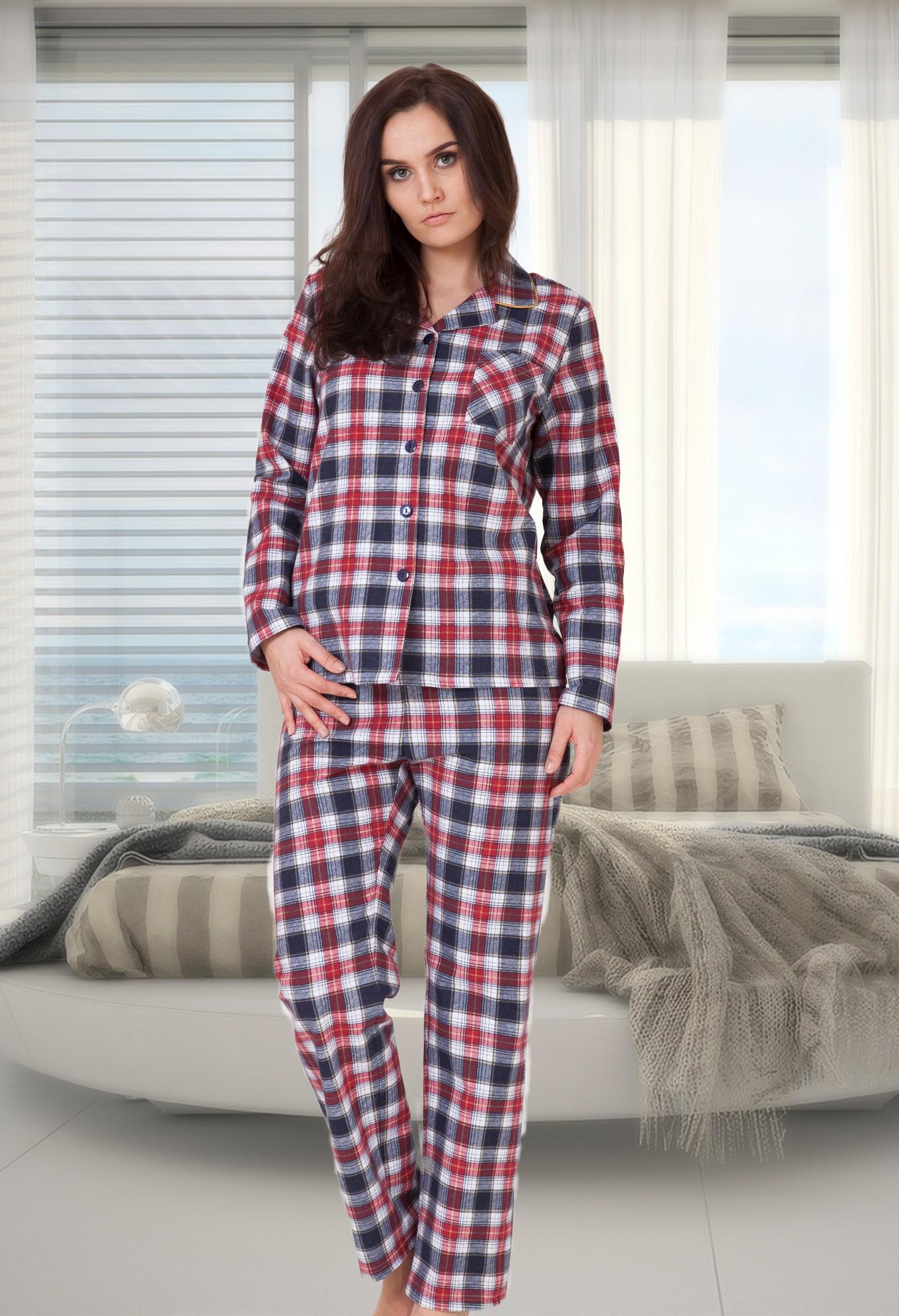 Florencia - flanelové pyžamo - na gombíky