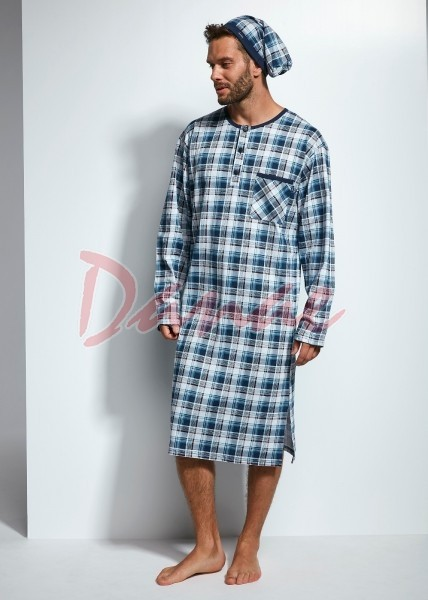 a6b1f2603c02 Pánska nočná košeľa s dlhým rukávom Cornette - Danaeshop