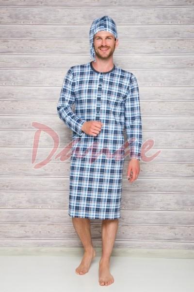 4125eb04766a Pánska nočná košeľa s dlhým rukávom Filip